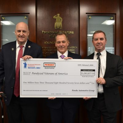 "Paralyzed Veterans of America Receives Over $1 Million through Penske Automotive Group's ""Service Matters"" Campaign"