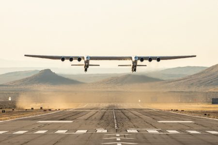 World's Largest Aircraft Takes To The Sky For Its Test Flight Over Mojave Desert