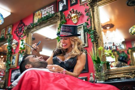 Elena Linares Brings Some RAZZLEDAZZLE to Tribeca with a Pampering Barbershop