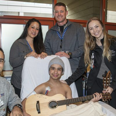 Nurse gifts guitar inscribed by Ed Sheeran to teen undergoing kidney dialysis