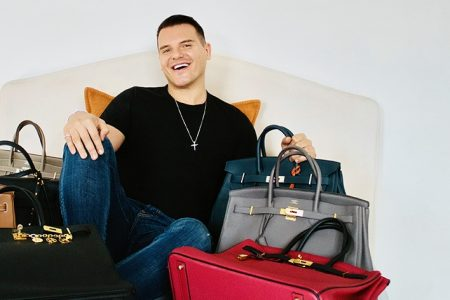 London-based Brazilian influencer, Israel Cassol, sets new male fashion trend with $130K collection of Birkins