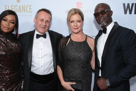 Lupita Nyong'o Honored at WildAid Gala with Special Guest Djimon Hounsou