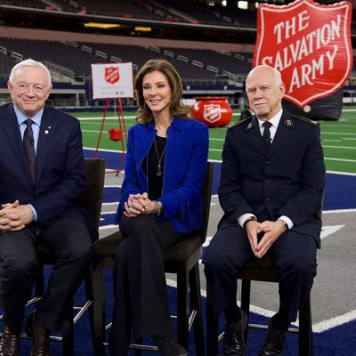 The Salvation Army Kicks Off 129th Red Kettle Campaign at AT&T Stadium, Airing on CBS