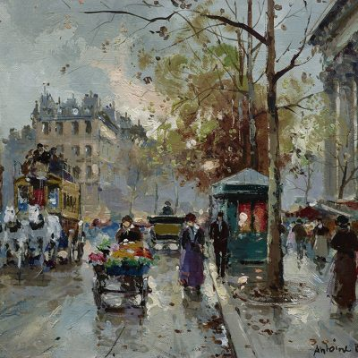 Exhibition of Nostalgic Parisian Street Scenes by Antoine Blanchard at Rehs Galleries in NYC