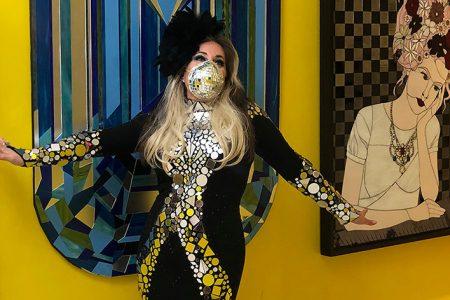 Glass Mosaic Artist Allison Eden Studios Pivots Into Fashion With Face Mask Line