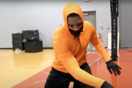 First All-In-One Hoodie With Attachable Mask and Gloves