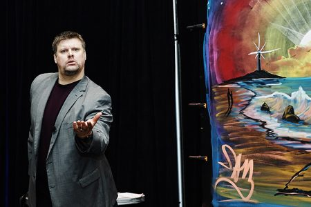 Performance Artist Inspires Optimism and Positive Mental Health by Giving Away Motivational Art Daily