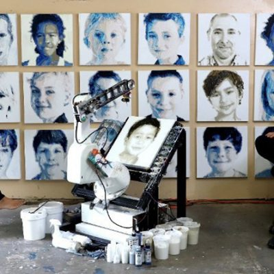 Artist Pindar Van Arman Develops ST Robotics' Collaborative Robot into the World's Most Evocative Painting Robot