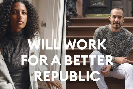 "Banana Republic ""Will Work For A Better Republic"" In Partnership with Delivering Good and Rock the Vote"