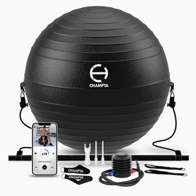 The Most Effective At-Home Workouts With the Champya Stability Exercise Ball Plus Pilates Bar