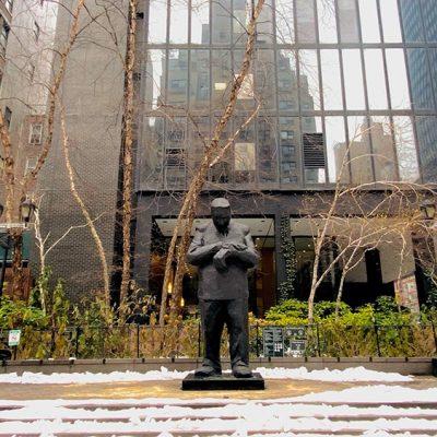 Sculpture by Internationally Acclaimed Artist, Jim Rennert, Arriving in New York City