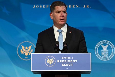 A Long-Lime Labor Leader Marty Walsh Confirmed as New U.S. Labor Secretary