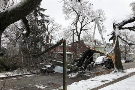 Power Restoration Effort in Full Swing Following Most Damaging Ice Storm in Virginia in Two Decades