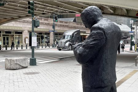 NYC's Pershing Square Plaza West Is Now Home to Three New Sculptures by Jim Rennert