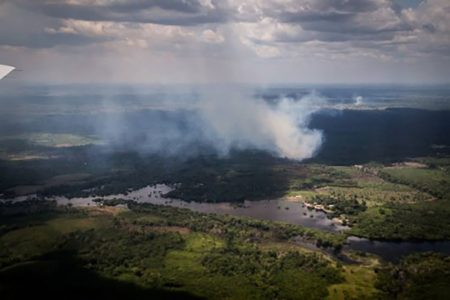 Understanding the Source of Extremely Small Particles Above the Amazon