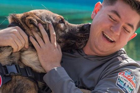 American Humane Reunites Heroic Military K-9 With Handler in Las Vegas