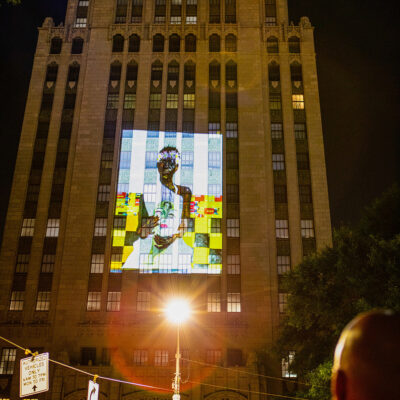 Artworks on Racial Justice Get a Major Public Projection Onto the Brooklyn Public Library