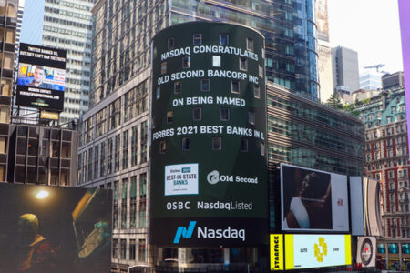 Old Second National Bank Named #1 Bank in Illinois by Customers for Second Straight Year