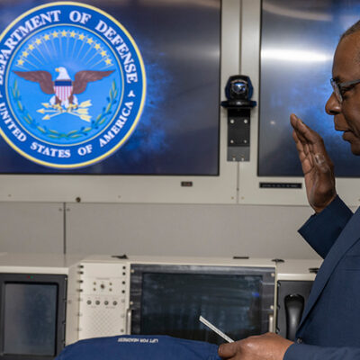 Austin Administers Speedy Swearing-In for DOD's New Indo-Pacific Policy Guru