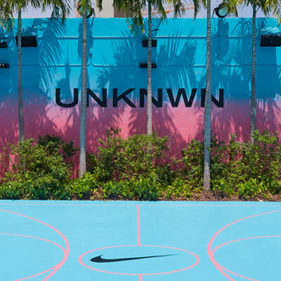 UNKNWN Unveils Nike Lebron 8 'South Beach' 2021 Inspired Basketball Court Painted Mural at Wynwood, Miami Location