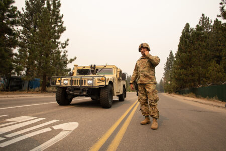 California Guard Military Police Help With Wildfire Response