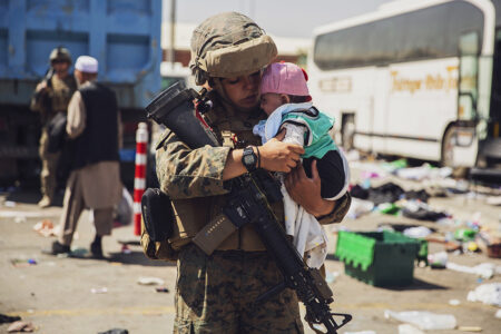 Military Phase of Evacuation Ends, as Does America's Longest War