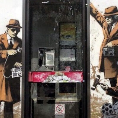 Banksy's Spy Booth Brick + NFT Auction Crashes Servers With Overwhelmingly Heavy Web Traffic