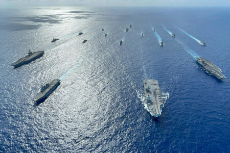U.S., U.K., Japanese Ships Operate Together in Indo-Pacific